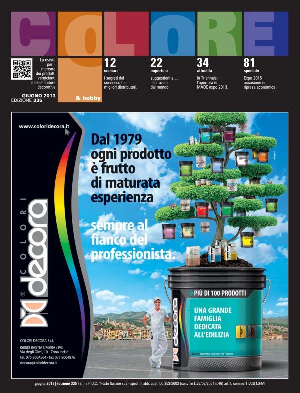 Colore & Hobby - Articolo di copertina dedicato all'azienda COLORI DECORA srl (giugno 2013)