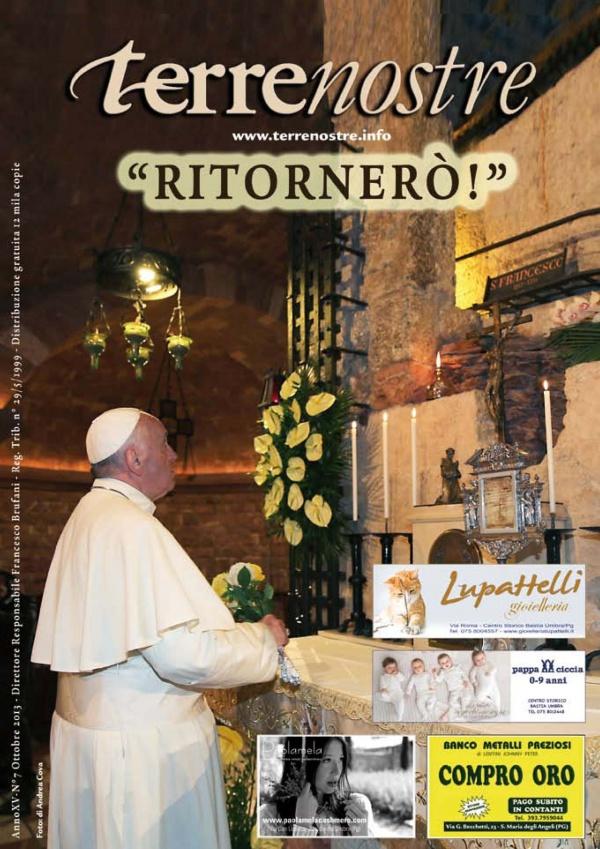 Terrenostre - articolo visita Papa Francesco ad Assisi (ottobre 2013)