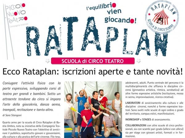 """Terrenostre - articolo """"Piccolo Nuovo Teatro, scuola di circo Rataplan"""" (settembre 2014)"""