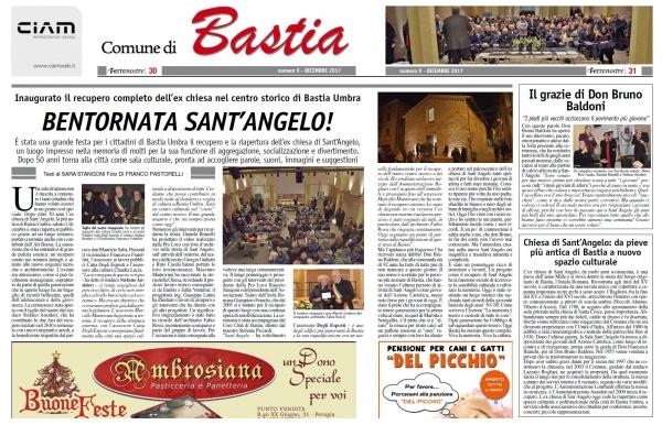 Terrenostre - articolo inaugurazione Auditorium Sant'Angelo a Bastia Umbra (dicembre 2017)