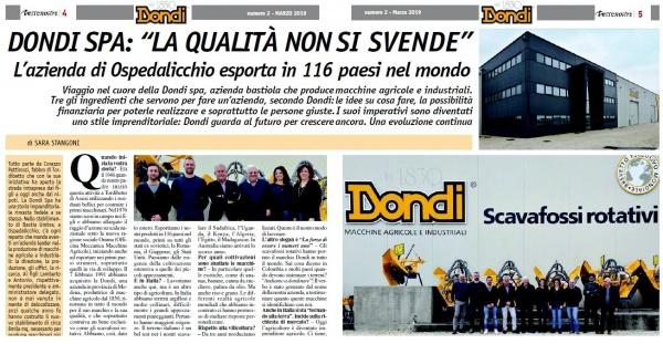 Terrenostre - articolo dedicato all'azienda Dondi Spa di Bastia Umbra (marzo 2019)