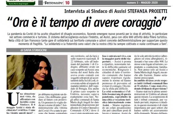 Terrenostre - intervista al sindaco di Assisi durante l'emergenza da Covid-19 (maggio 2020)