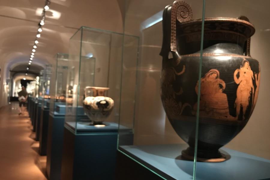 La sezione archeologica della mostra.