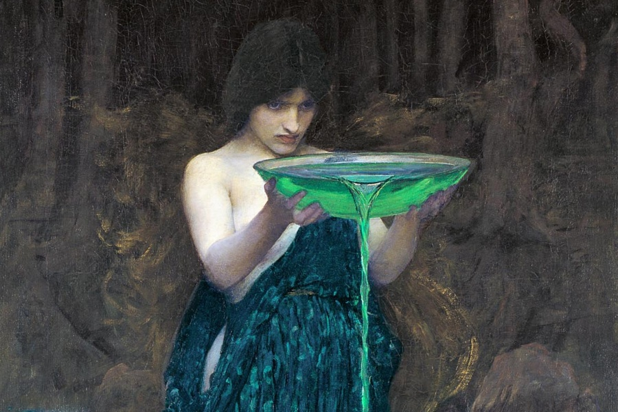 """John William Waterhouse, """"Circe invidiosa""""."""