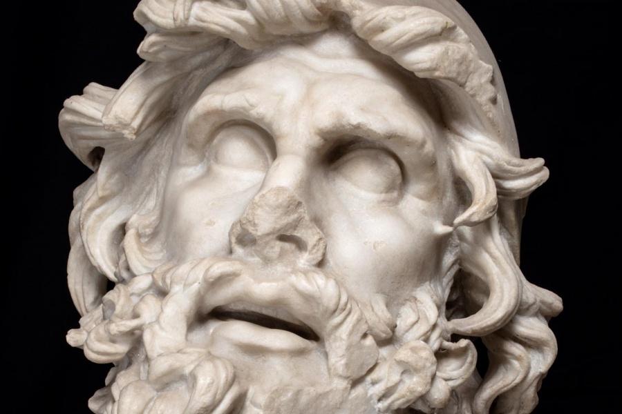 """""""Testa di Ulisse"""", dal Museo Archeologico di Sperlonga."""