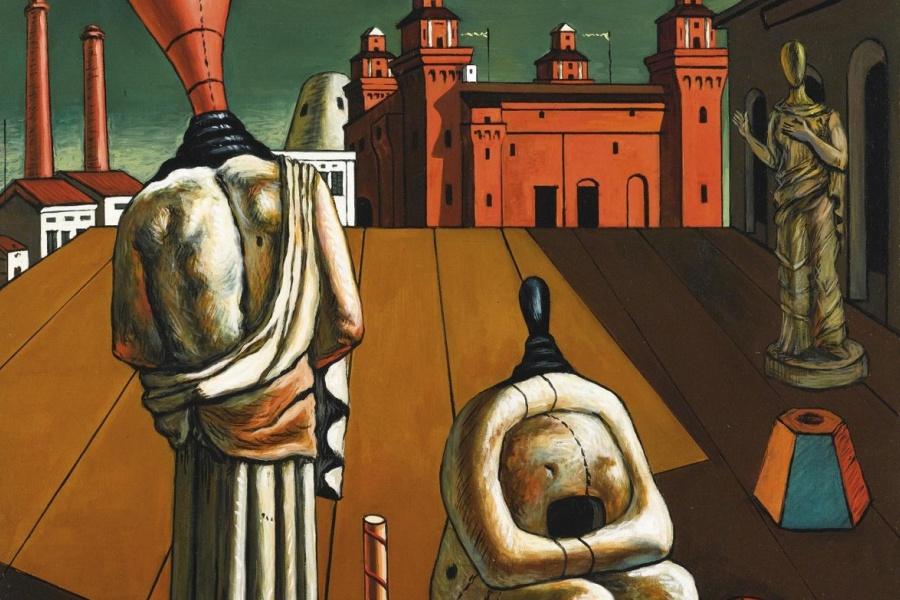 """Giorgio De Chirico, """"Le muse inquietanti""""."""