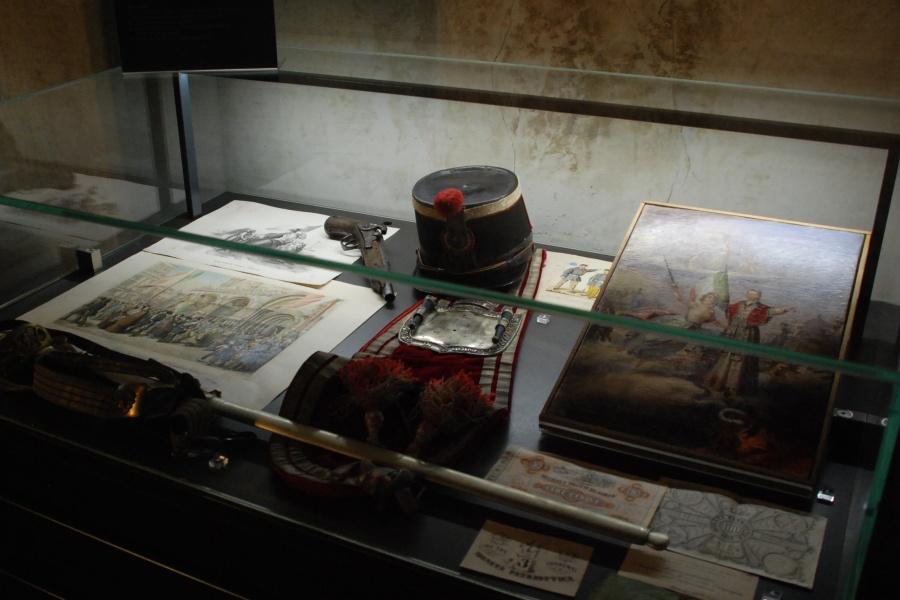 Museo del Risorgimento, esposizione di cimeli e documenti.
