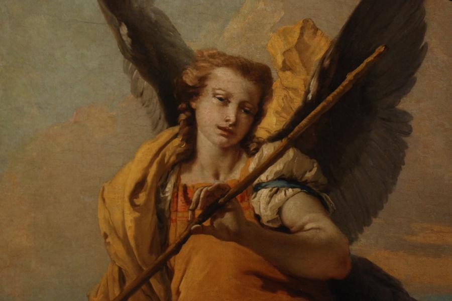 """""""L'angelo custode"""", Giambattista Tiepolo, 1737."""