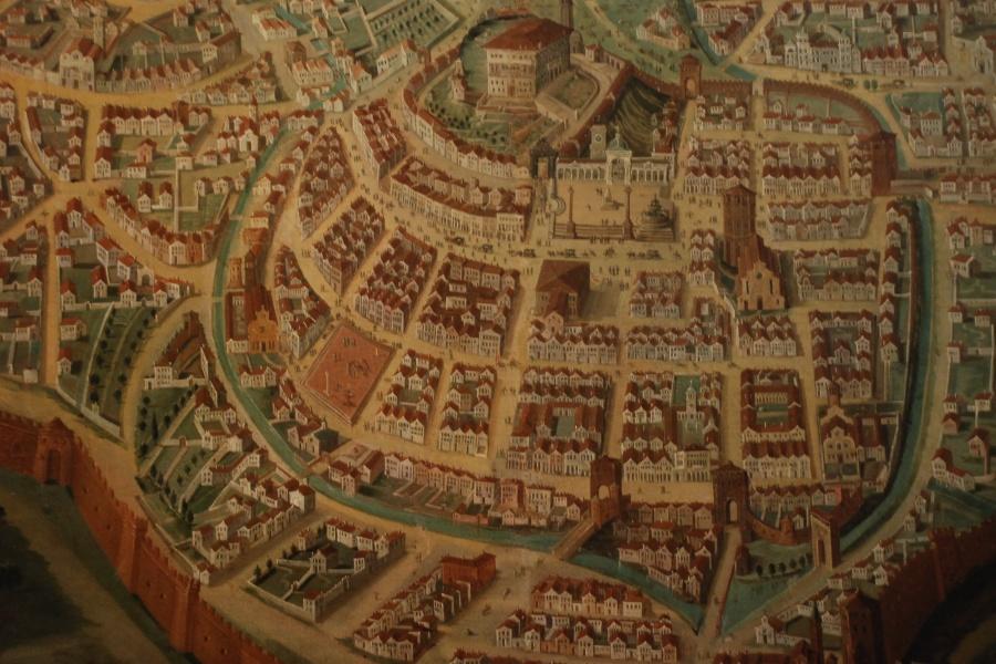 """""""Pianta della città di Udine"""", Joseph Heintz il giovane, 1660 ca."""