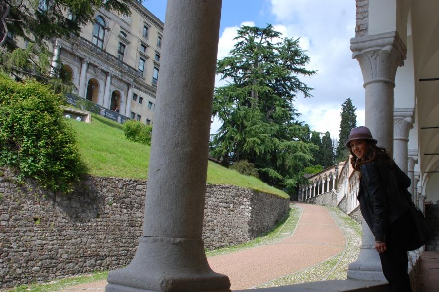 Portico Lippomano, salita al Castello di Udine.