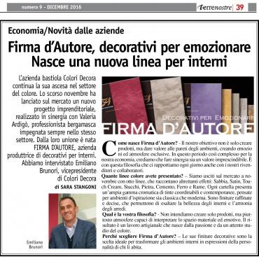 <p>Redazione&nbsp;<strong>articoli</strong> promozionali su giornali e periodici.</p>