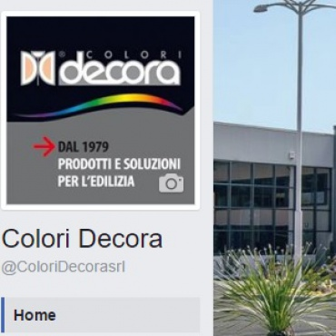 <p>Gestione pagina <strong>Facebook </strong>@ColoriDecorasrl</p>