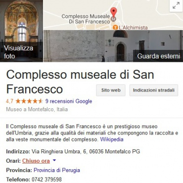 <p>Profilo Google Business.</p>
